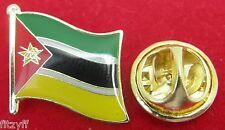 Mozambique Flag Lapel Hat Tie Pin Badge República de Moçambique Maputo Brooch