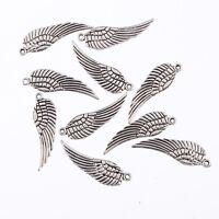 wing Tibetan Silver Bead charms pendant fit bracelet 10pcs 26*9mm free shipping