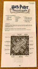 HARRY POTTER DIAGON ALLEY MATTEL 2001 BOARD GAME INSTRUCTIONS.