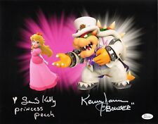 KENNY JAMES~SAMANTHA KELLY Hand-Signed Super Mario Odyssey 11x14 photo JSA COA F