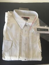 511 tactical response uniform 3xl short long sleeve white shirt 100% cotton New