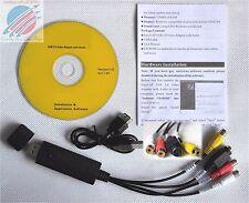 USB Video Audio Converter / Capture / Tessera / ADAPTER FOR VHS VCR su PC Windows