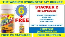 7X Stacker2 20 Capsules Weight Loss Energy Dietary 6+1 (Lot 7 X Bottles)= 140