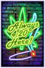 "Always 420 Here - Non Flocked Blacklight Poster 24"" x 36"""