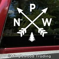 PNW Arrows Vinyl Sticker - Pacific Northwest Hiking Cascadia WA OR Die Cut Decal