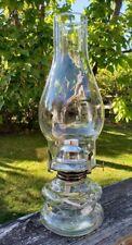 "Lamplight Farms 12 1/2"" Tall Clear Glass Oil/Kerosene Lamp USA"