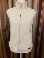 Authentic Women's Patagonia Fleece Vest Lined Full Zip Small Ivory White Warm