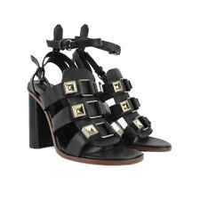 202375c64c7e Proenza Schouler Runway Collection Studded Black Leather Sandals IT38 UK5