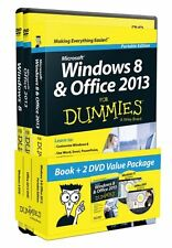 Windows 8 and Office 2013 For Dummies, Book + 2 DVD Bundle by Andy Rathbone, (Pa