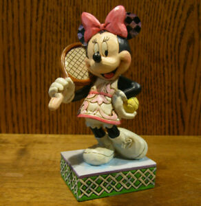 "Jim Shore Disney Traditions #4050404  MINNIE MOUSE ""TENNIS, ANYONE?"" 6"" Figurine"