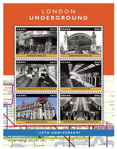Ghana- London Underground 150th Anniversary Stamp- Sheet of 6 MNH