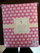 New Pottery Barn Kids Elephant Duvet Cover  Organic Cotton Full/Queen