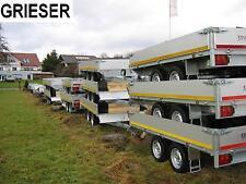 Neu 2000kg Tandem Hochlader Anhänger 311 x160 x 30 cm Alu BW ! EDUARD - GRIESER
