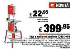 Sega a nastro per legno plastica 750W einhell con banchetto banco TC-SB 305 U