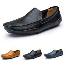 Men's Leisure Faux Leather Shoes Driving Moccasins Pumps Slip on Loafers Soft B