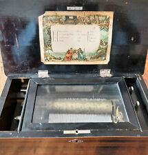 alte Walzen-Spieluhr, Spieldose ca. 1870-1900, 4 Titel, gebraucht