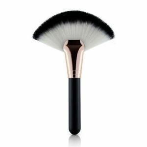Foundation & Blush Powder Fan Brush - Black & White - Brand New