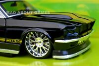 FORD MUSTANG GT 1967 1:24 Scale Diecast Model Toy Car Metal Miniature Black