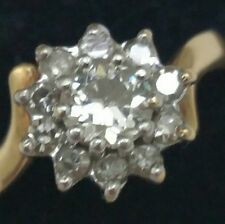 $4830 Antique .73ct Solitaire Old European Cut VS/H Diamond 14k 2-tone Gold Ring