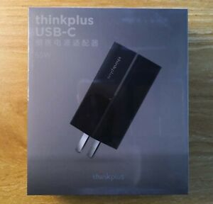 New Genuine Lenovo Thinkplus 65W USB-C Charger Travel AC Adapter (PA65) BLACK