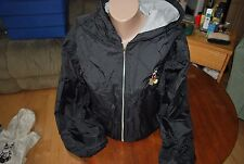 Unisex Disney Store Hooded Lined Black Jacket Coat Mickey Mouse Size Small