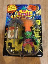 Troll Warriors Knut The Inventor 1993 Tyco Troll Power Tattoo Orange Green New