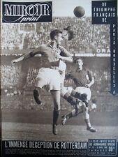 FOOTBALL HOLLANDE FRANCE CYCLISME PARIS BRUXELLES DIOT N° 151 MIROIR SPRINT 1949
