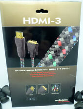 Audioquest HDMI-3 HDMI to DVI-D crossover cable 2 meter NIB!