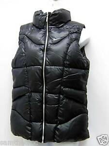 New NIKE Girls Quilted Ski Snow Gilet Body Warmer Black 10 to 12 Years M