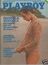 PLAYBOY 1977 DANIELA ZUCCOLI in BONGIORNO guido crepax karen hafter zeudi araya