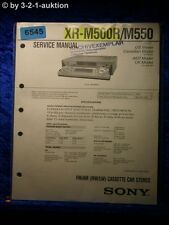 Sony Service Manual XR M500R /M550 Car Stereo (#6545)