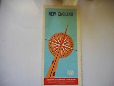 ancienne carte routière usa New England AAA road map