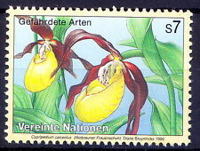 UN MNH, lady's-slipper orchid, Endangered Plants -