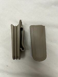 x2 Safariland 71-2-55  Single & Double Stack Magazine Pouch Belt Loop FDE