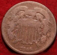 1866 Copper Philadelphia Mint Two Cent Coin