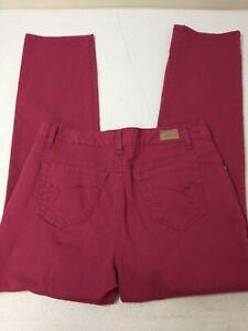 Bandolino Womens Denim Jeans Size 10 Regular Mandie Pink 31X30 High Rise Pockets
