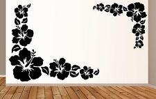 2 piezas de auto pegatinas hibisco flores mariposas Hawaii murales Xmx