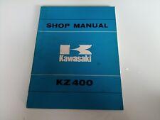 Kawasaki KZ 400 D S KZ400 KZ400D KZ400S 74-77 Service Manual Werkstatt-handbuch