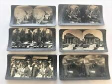 Keystone Stereoview Card Lot 6 Oyster Shuck,Mexico,Central America,Bank Montreal