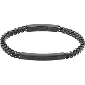 Emporio Armani Mens Bracelet EGS2415001 Stainless Steel Black
