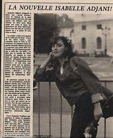 Coupure de presse Clipping 1981 Isabelle Adjani  (1 page)
