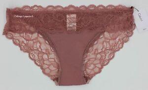 "NWT Calvin Klein QF1200 ""Seductive Comfort"" Microfiber w/ Lace Bikini Mauve, 681"