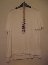 Woman's White Blouse + Butterfly Neckless