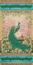 JEWEL OF THE GARDEN ~ Beautiful Peacock ~  Fabric ~ Large Panel