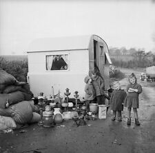 Irish Gypsies in Anglesey Wales 1963 Romany Travellers 5x5 Inch Reprint Photo