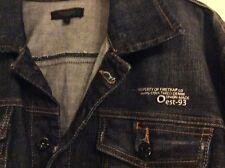 FIRETRAP Black Seal blue denim jacket XL button fastener