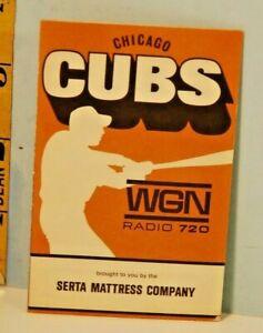 1968 Chicago Cubs Baseball Schedule Serta Sleeper Mattress