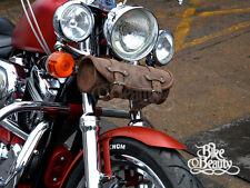 marrone borsello in pelle STRUMENTI BORSA ROTOLO Harley Davidson Softail FatBoy