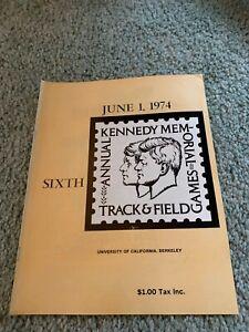 1974 Kennedy Memorial Track & Field Program University of California Berkeley