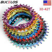 30-42T Narrow Wide MTB Chainring 104BCD Round Oval Chain Ring Aluminum Bike Part